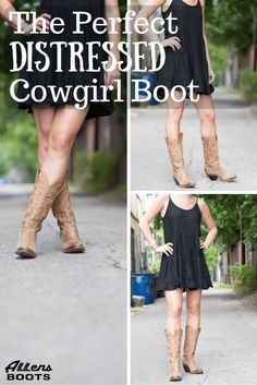 The Perfect Distressed Lucchese Cowgirl Boot