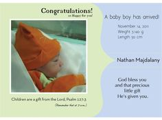 Welcome Baby Nathan