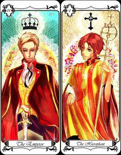 Hetalia Germany and Italy as tarot cards!!!