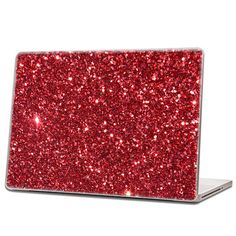 Red  Glitter Laptop Skin hex 015 by IridescentBeauty on Etsy, $40.00 - Love! Glamorous and affordable.