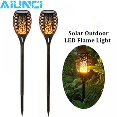 Solar Torch Lights with Flickering Flame