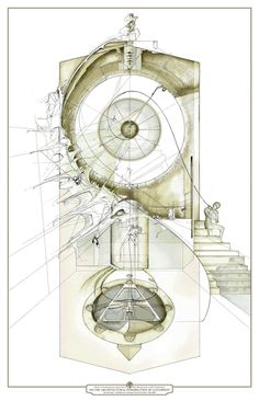 Great drawings with architectural & conceptual renderings by artist Dan Slavinsky. Architecture Graphics, Architecture Drawings, Concept Architecture, Architecture Design, Architecture Student, Maquette Architecture, Architecture Mapping, Architecture Panel, Chinese Architecture