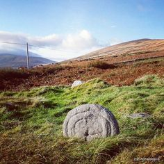 Simple cross slab. It's located on the site of an early church at very western tip of the Dingle peninsula, Co Kerry #irisharchaeology #dingle #discoverireland #loves_ireland #wanderlust #archaeology #ancient #ireland_gram