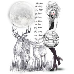 """Oh, deer"" by alicja2204 on Polyvore"