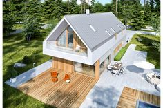 MODERN HOUSE - EX 20 G2 on Behance White Farmhouse, Good House, House Extensions, Outdoor Furniture Sets, Outdoor Decor, Home Projects, Architecture Design, House Plans, House Design