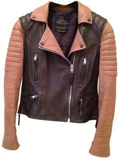 ALL SAINTS Two-colour leather jacket $467.35 thestylecure.com