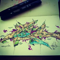 Moves in my mind by ATEW ONE #graffiti #mind #style #sketch #wild #life #colors #letters #underground