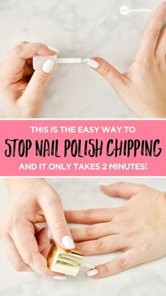 No one gets a manicure (or DIYs one at home) hoping it only lasts a day or two! So check out this tip that will make your manicure last longer! Nails At Home, Manicure At Home, Manicure And Pedicure, Fun To Be One, Make Up, Make It Yourself, Diy Pedicure, Long Lasting Nail Polish, Broken Nails