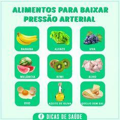 Alimentos para baixar a pressão arterial!
