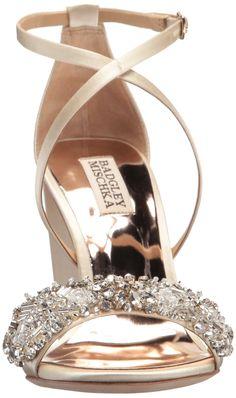 43164711fe25 Badgley Mischka Womens Sandra Heeled Sandal Ivory 6.5 M US    Details can  be found