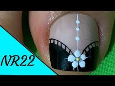 DECORACIÓN DE UÑAS ELEGANTE#5- ELEGANT NAIL DECORATION #5-NR22❤💅 - YouTube Toe Nail Color, Toe Nail Art, Nail Colors, Toe Nail Designs, Dream Nails, Dope Nails, Manicure And Pedicure, Christmas Bulbs, Hair Beauty