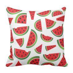 CBendel Cute Watermelon Home Decor Throw Pillow Watermelon Decor, Cute Watermelon, Watermelon Painting, Custom Pillows, Decorative Throw Pillows, Cricut, Green Theme, Seasonal Decor, Pillow Covers