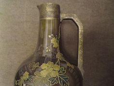 Aesthetic Movement pottery handled vase jug possibly Christopher Dresser design