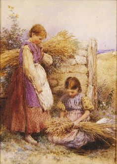 I hope you enjoyed our artist today♥  Tonight and Thursday, let's do WORKING ON THE FARM.    (Myles Birket Foster)