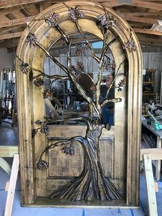 The Night Oak Tree Door