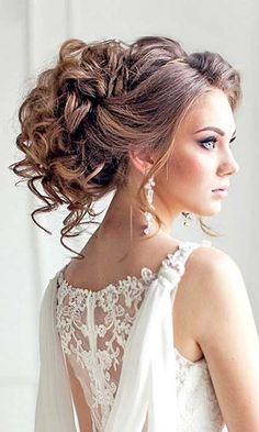 30.Wedding Hairstyle for Curly Hair