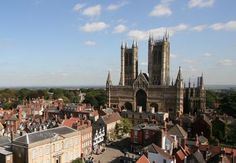 Lincoln Castle and Cathedral in England. One of the two remaining original copies of the Magna Carta resides there.