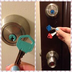 What's a bored office GF to do when her military BF goes away? Colour code the keys to the locks of course.