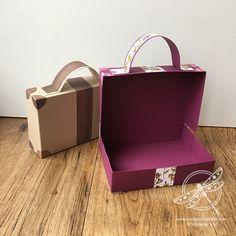 Suitcase Gift Box Stampin Up! UK Inspiring Inkin Amanda fowler
