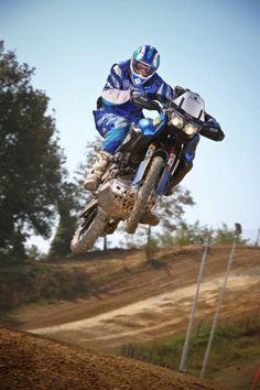 Francesco Catanese on a modified Yamaha Super Tenere