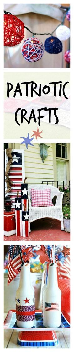 Your heart will swell for these red, white, and blue crafts perfect for the 4th of July or Memorial Day.