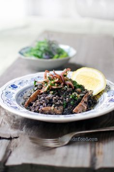 Croatian #black #risotto  Today for lunch crni rižoto from cuttlefis I caught by miself..mmm..