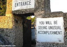 Entrance to Coral Castle. Florida City, Visit Florida, Florida Travel, South Florida, Purple Martin House, Homestead Florida, Coral Castle, Tourist Trap, Vintage Florida