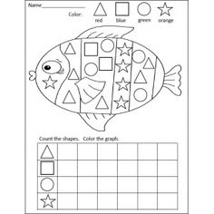 Shapes Graphing Activity - The addition of graphing is good for the kids who already know all their shapes.