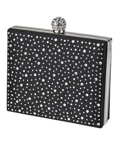 Take a look at this Black Cluster Miniaudiere Clutch by Jessica McClintock on #zulily today!