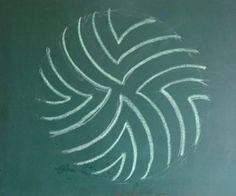Waldorf ~ 3rd grade ~ Form Drawing ~ chalkboard drawing