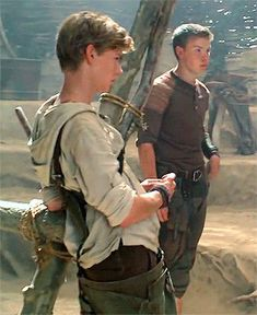 The Maze Runner gif -Thomas Sangster and Will Poulter