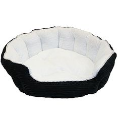 Corduroy Bottom Fleece Dog Bed