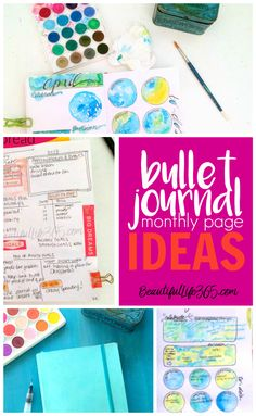 Simple Bullet Journal Monthly Page ideas for your journal. -- from BeautifulLife365.com