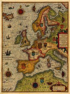 Europe, 1592 #map #europe