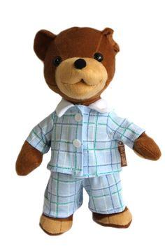 Miś Uszatek 30 cm w pidżamce :: Spod Lady - retro prezenty Doll Toys, Teddy Bear, Animals, Tin Cans, Animales, Animaux, Teddy Bears, Animal, Animais