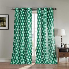 "DUCK RIVER TEXTILES - KITTATTINNY 11983D=6 Heavy Blackout Grommet Pair Panel (2 Piece), 38"" x 112"", Emerald"