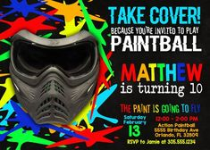 Paintball Birthday Party Invitation - Paintball Party - Paintball Invitation - Teen Boy Birthday Invitation - Real Time - Diet, Exercise, Fitness, Finance You for Healthy articles ideas Cowgirl Birthday, Cowgirl Party, 10th Birthday, Digital Invitations, Custom Invitations, Birthday Party Decorations, Birthday Parties, Party Themes, Party