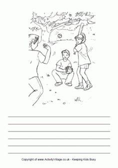 Playing Baseball Story Paper