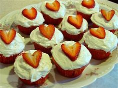 Strawberry Cupcakes for St. Margaret Mary Alaqoque Day Oct. 16