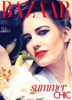 Harper's Bazaar UK June 2011 Cover Eva Green by Camilla Akrans