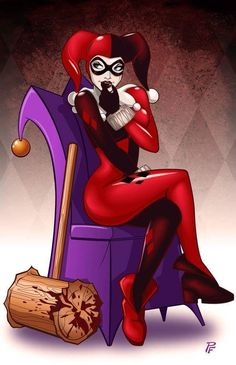It& crazy how much I love Harley Quinn. The only problem I have is Harley Quinn from Batman the animated series or Harley Quinn from The Arkham games. Gotham City, Comic Book Characters, Comic Books Art, Comic Art, Comics Love, Bd Comics, Catwoman, Wonder Woman Comics, Fan Art