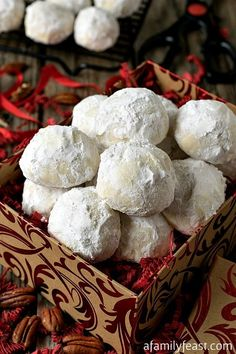 Coconut Snowball Cookies are delicious and melt in your mouth. Perfect for the holidays