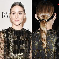 Learn how to get Olivia's super sleek and shiny rope braid accented with a latex headband.
