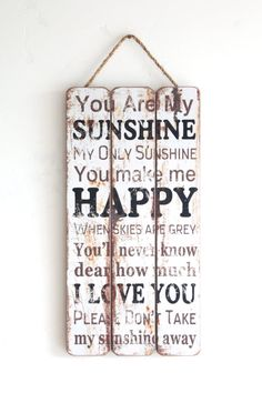 You Are My Sunshine Wall Art, Wooden Sign, You Are My Sunshine Sign