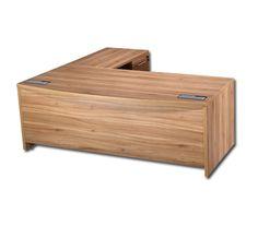 Executive American Walnut 3 Piece Desk Set