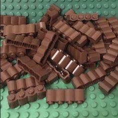 LEGO Lot of 4 Light Gray 1x4 Log Brick Pieces