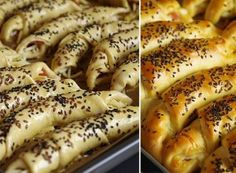 The simplest home (filled) rolls Slovak Recipes, Czech Recipes, Ethnic Recipes, Bread And Pastries, Hot Dog Buns, Finger Foods, Food And Drink, Cooking Recipes, Croissant