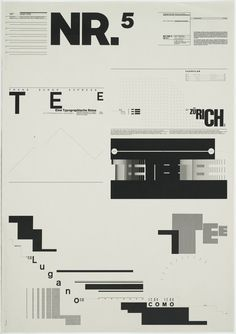 Wolfgang Weingart. Typographic Process, Nr 5. Typography as (Painting). 1971-1974