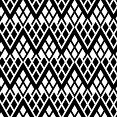 Camelot Cottons House Designer - Black and Tan - Chevron Trellis in Black and White