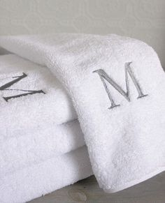 Monogrammed towels in both the guest bathroom and master bathroom with our last name would be so adorable.